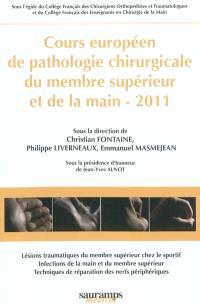 Cours européen de pathologie chirurgicale du membre supérieur et de la main, 2010