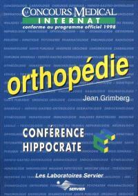 Orthopédie : le concours médical internat conforme au programme officiel 1998