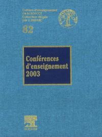 Conférences d'enseignement 2003
