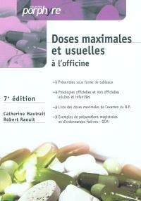 Doses maximales et usuelles à l'officine