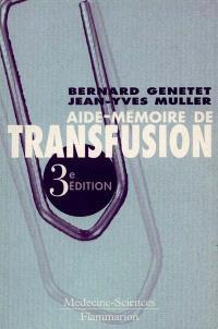 Aide-mémoire de transfusion