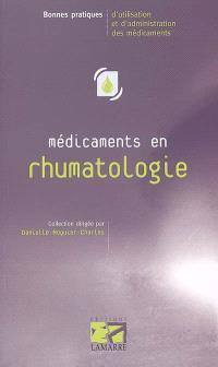 Médicaments en rhumatologie chez l'adulte