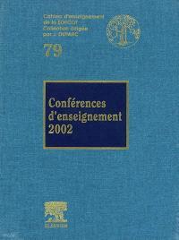 Conférences d'enseignement 2002