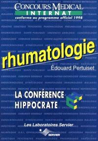 Rhumatologie : le concours médical internat conforme au programme officiel 1998