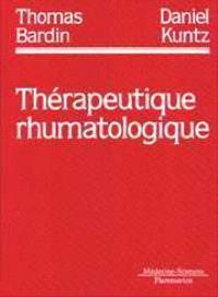 Thérapeutique rhumatologique