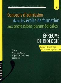 L'épreuve de biologie, concours d'entrée dans les écoles de sages-femmes