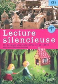 Lecture silencieuse CE1 série 2 : 16 dossiers documentaires et un conte : avec les corrigés des exercices