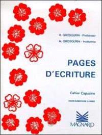Pages d'écriture : cahier capucine, cours élémentaire 2e année