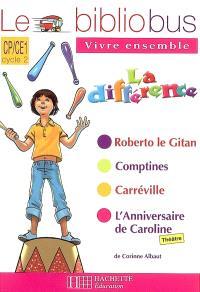 Le bibliobus vivre ensemble, CP-CE1, cycle 2 : la différence