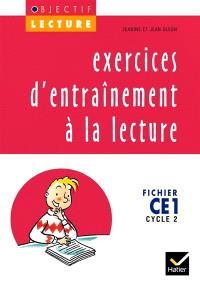 Exercices d'entraînement à la lecture, CE1