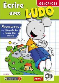 Ecrire avec Ludo : ressources TBI et vidéoprojection