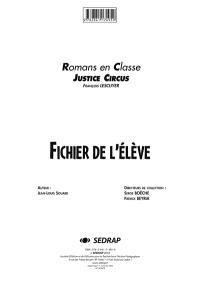 Justice Circus, François Lescuyer, cycle 3 : fichier de l'élève