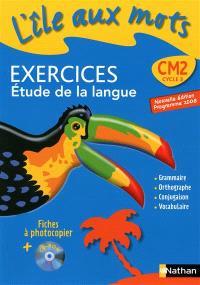 L'île aux mots, CM2 cycle 3 : étude de la langue : exercices