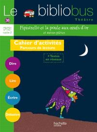 Pipistrello et la poule aux oeufs d'or, et autres pièces : CP-CE1 cycle 2 : cahier d'activités, parcours de lecture + textes en réseaux