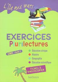 Plurilectures, CM1 cycle 3 : exercices