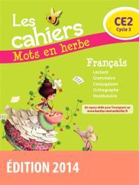 Les cahiers mots en herbe français, CE2 cycle 3