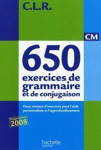 650 exercices de grammaire et de conjugaison, CM : deux niveaux d'exercices pour l'aide personnalisée et l'approfondissement