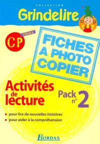 Activités de lecture cycle 2 CP : pack 2