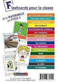 Flashcards pour la classe : de la maternelle au cycle 3