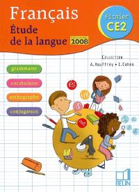 Français, fichier CE2 : étude de la langue