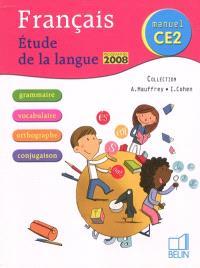 Français, manuel CE2 : étude de la langue