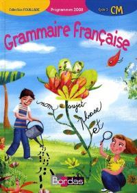 Grammaire française, CM cycle 3 : programmes 2008
