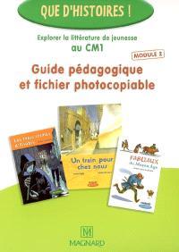 Guide pédagogique et fichier photocopiable : explorer la littérature de jeunesse au CM1. Volume 2