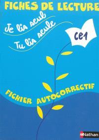 Je lis seul, tu lis seule CE1 : fichier autocorrectif