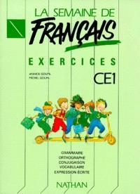 La semaine de français, CE1 : exercices