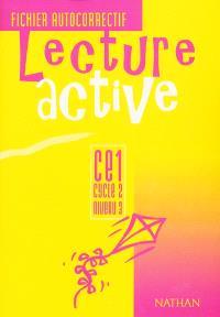 Lecture active CE1, cyle 2 niveau 2 : fichier autocorrectif