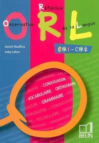 Observation réfléchie de la langue : CM1-CM2