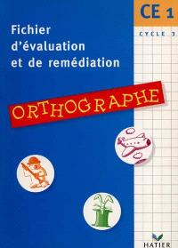 Orthographe, CE1