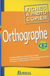Orthographe, CE2, cycle 3