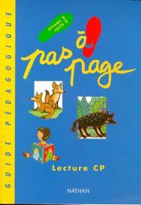 Pas à page, lecture CP : guide pédagogique