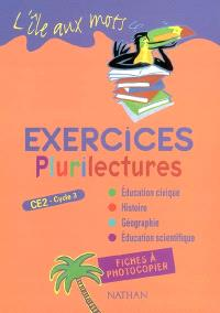 Plurilectures CE2, cycle 3 : exercices