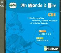 Un monde à lire CE1 : pack 2 CD audio