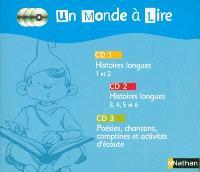 Un monde à lire CP : 3 CD audio pour la classe