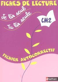 Je lis seul, tu lis seule : CM2 : fichier autocorrectif