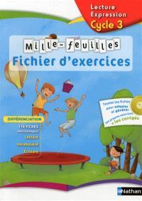 Mille-feuilles, français cycle 3 : fichier d'exercices