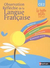 Observation réfléchie de la langue française : CE2, cycle 3