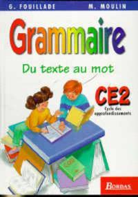 Grammaire CE2, cycle des approfondissements : du texte au mot