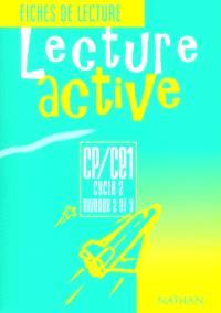 Lecture active CP, CE1, cycle 2, niveaux 2 et 3 : lecture active : fiches de lecture
