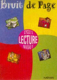 Bruit de page, lecture, cycle 3 niveau 1 : guide pédagogique, boîtier du maître