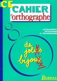 Cahier d'orthographe, cours élémentaire
