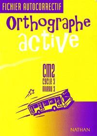 Crocolivre orthographe active CM2 : fichier autocorrectif