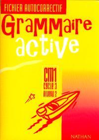 Grammaire active CM1 : fichier autocorrectif