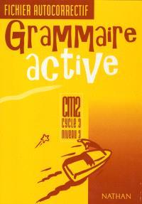 Grammaire active CM2, cycle 3, niveau 3 : fichier autocorrectif