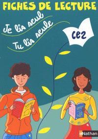 Je lis seul, tu lis seule CE2 : fiches de lecture