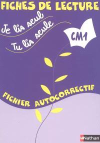 Je lis seul, tu lis seule CM1 : fichier autocorrectif