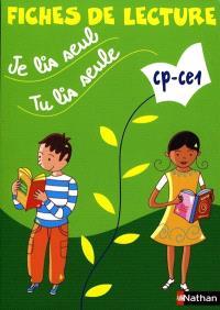 Je lis seul, tu lis seule CP-CE1 : fiches de lecture ( 5 exemplaires)
